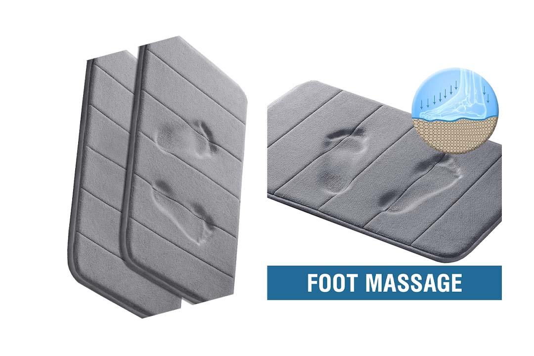 Memory Foam Coral Velvet Non Slip Bathroom Mat/Bath Rug