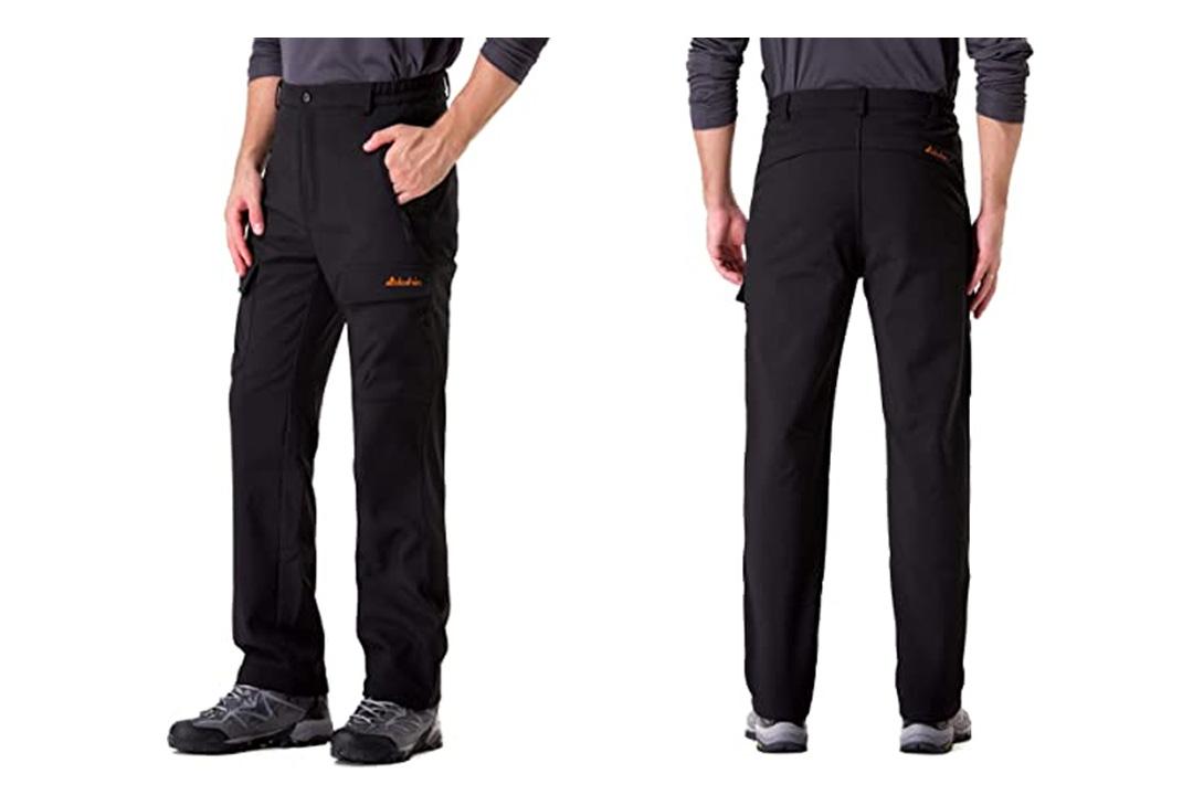 Men's Fleece-Lined Ski Cargo Pants