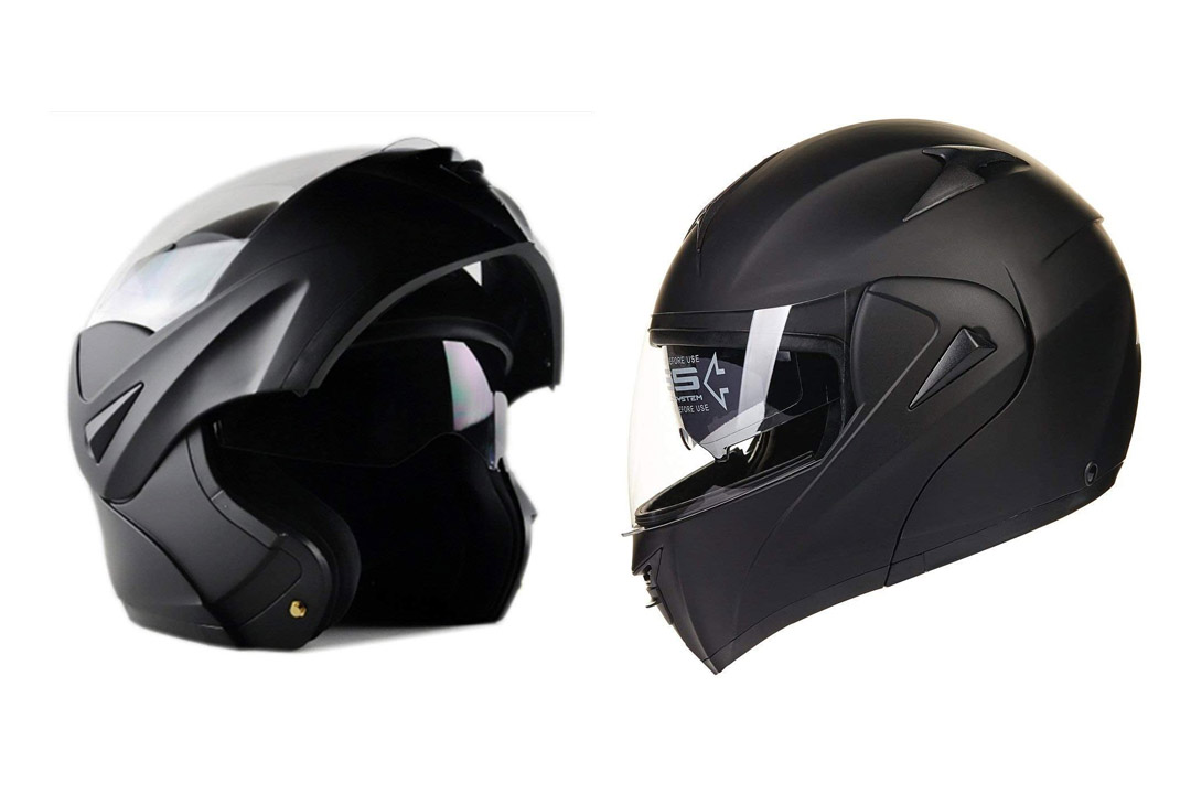 Motorcycle dual visor Flip up Modular Full-Face Helmet