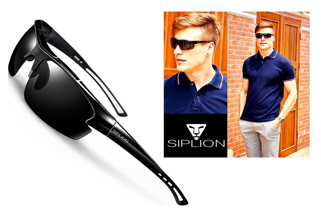 Siplion Men's Polarized Sports Sunglasses
