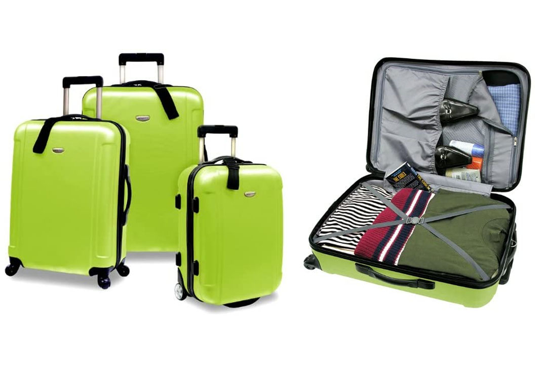 US Traveler's Choice Freedom 3-Piece Lightweight Luggage Set