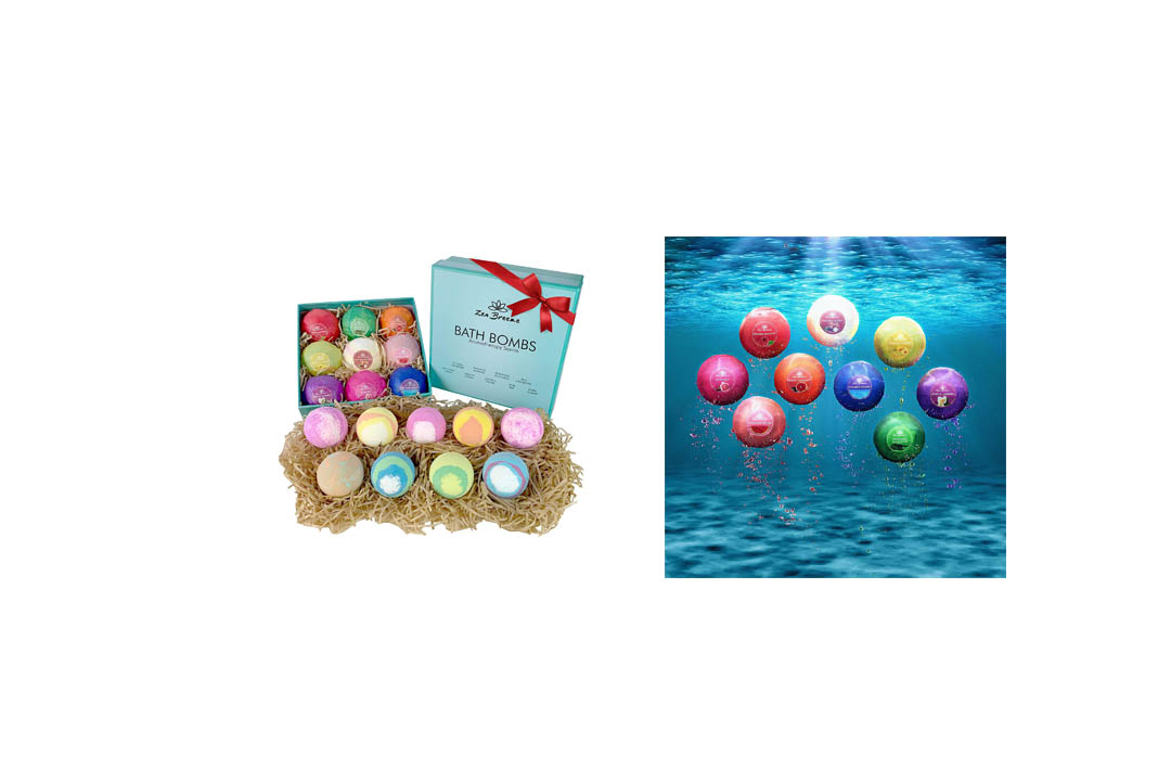 Bath Bombs Gift Set - 8 Luxury All Vegan Bubble Fizzies For Women