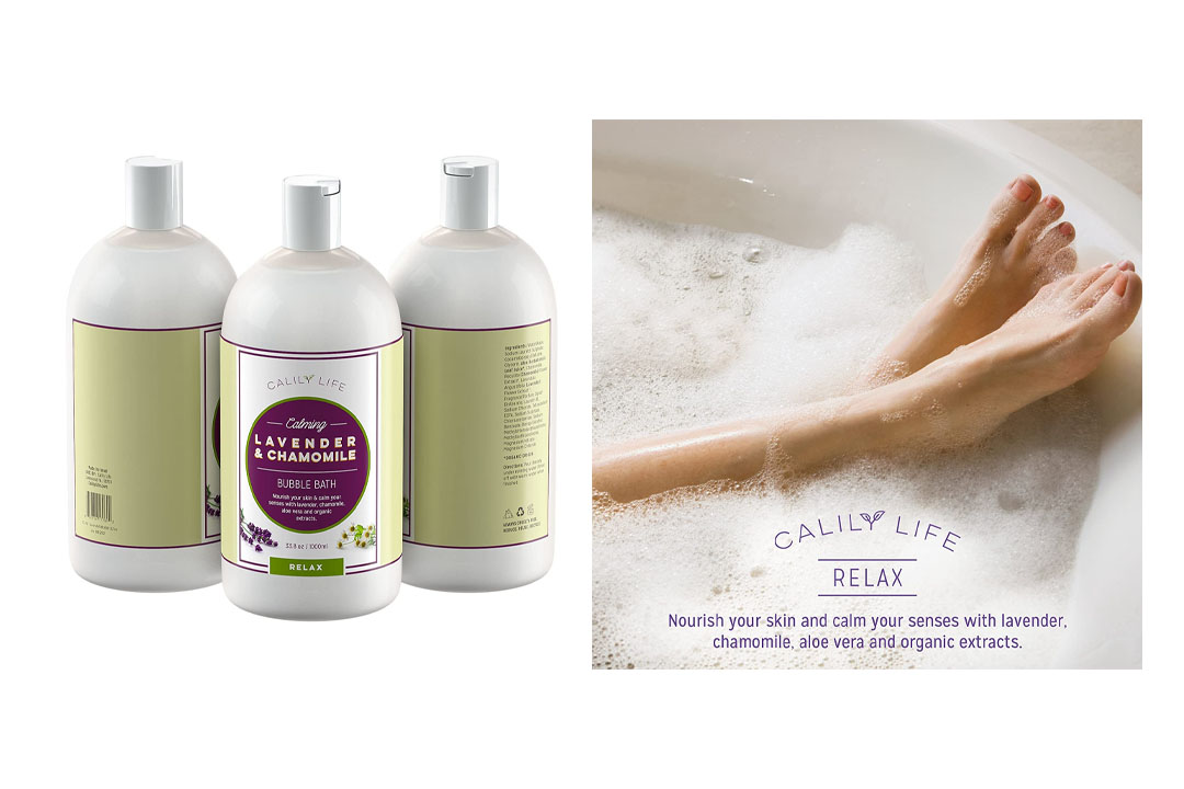 Calily Life Aromatherapy Lavender and Chamomile Bubble Bath Soak & Wash