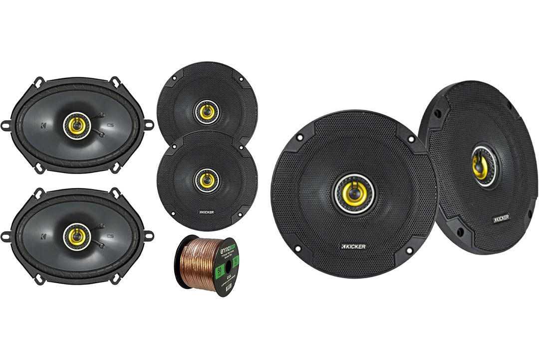 "Car Speaker Set Combo Of 2 Kicker 40CS654 6.5"" 600W"