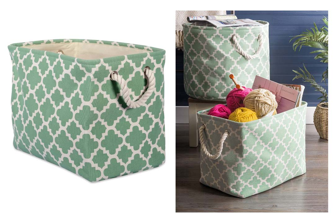 DII Collapsible Polyester Storage Basket