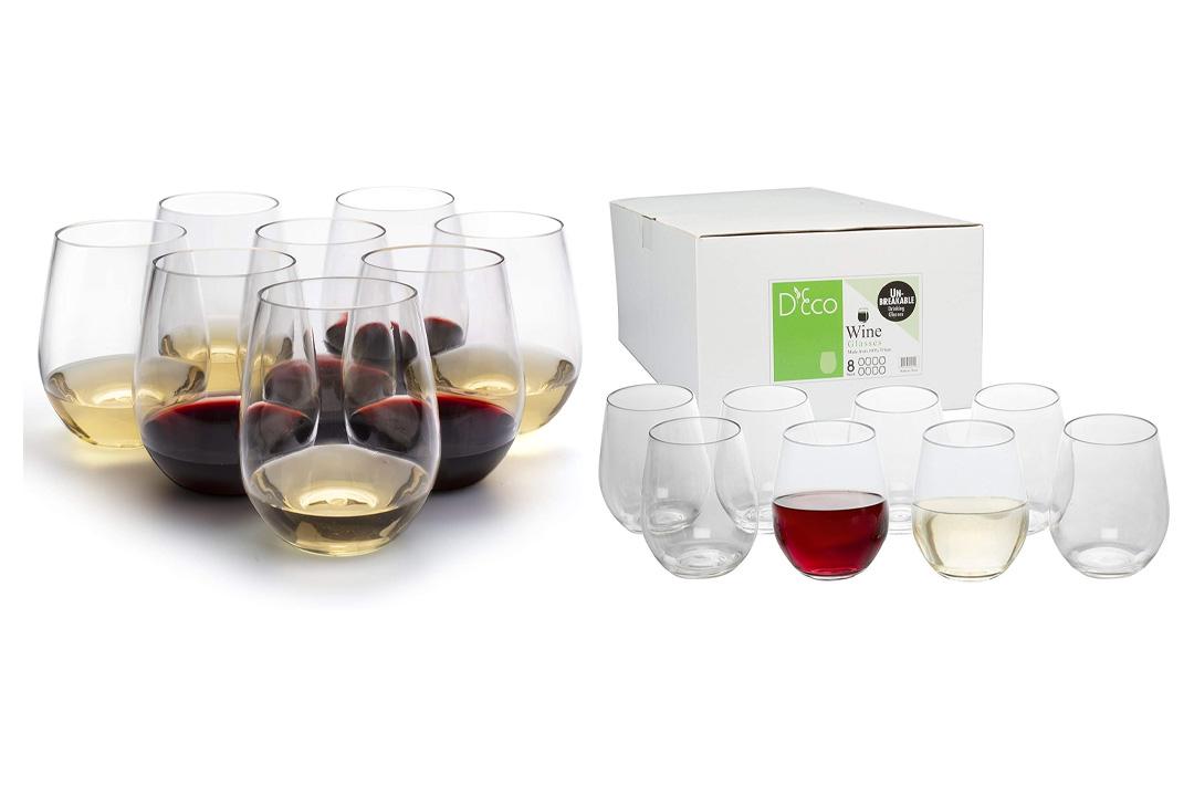 Deco Unbreakable Wine Glasses