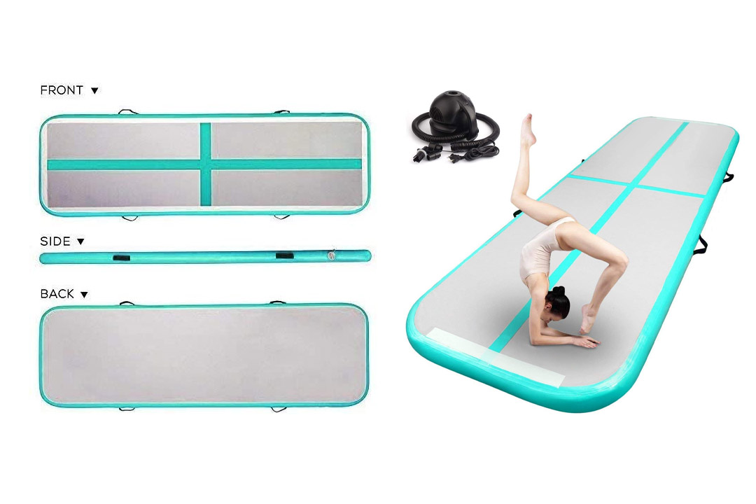FBSPORT 13ft/16ft/20ft/23ft/26ft Inflatable Gymnastics Air Track Tumbling Mat