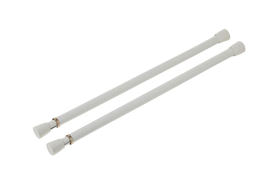 Graber 7/16-Inch Round Spring Tension Rod 11 to 18-Inch Adjustable Width