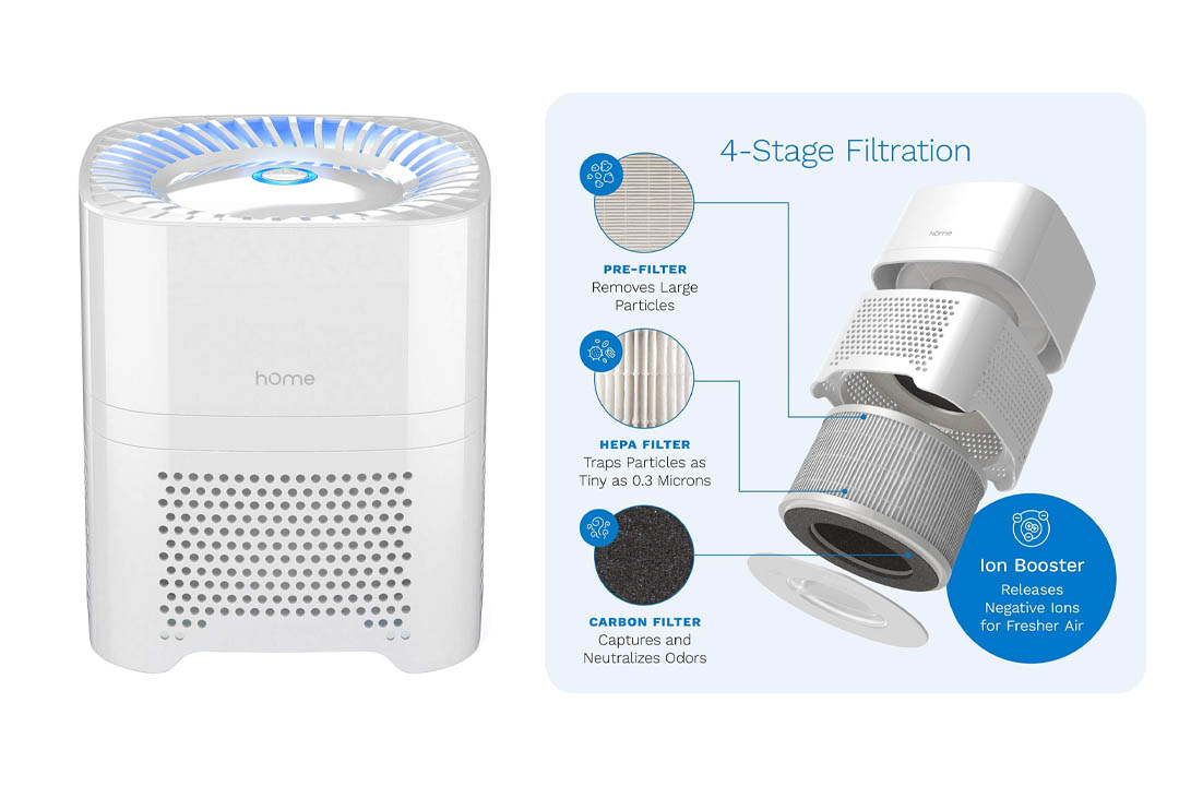 Home Ionic Air Purifier HEPA Filter for Allergies