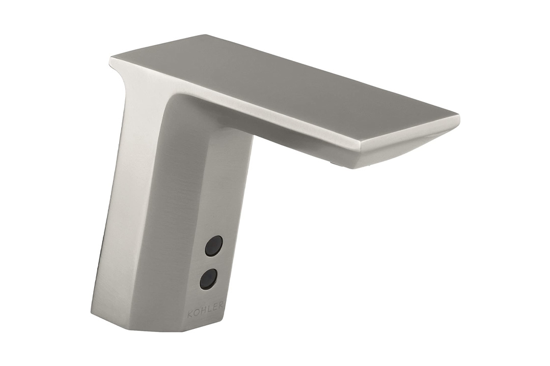 KOHLER K-13468-VS Geometric Single-Hole Touch Bathroom Sink Faucet