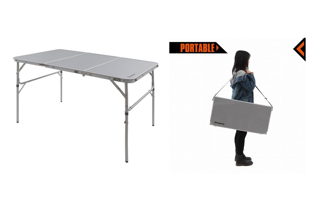 KingCamp Aluminum Alloy 3-Fold Camp Table