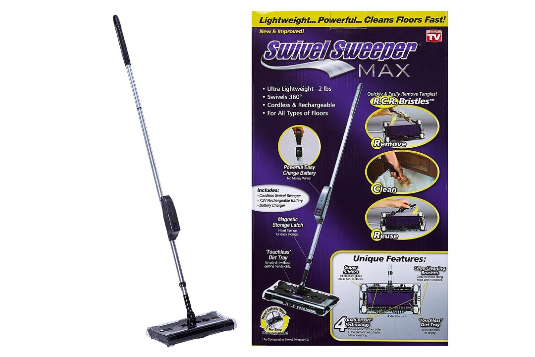 OnTel Products SWSMAX Max Cordless Swivel Sweeper