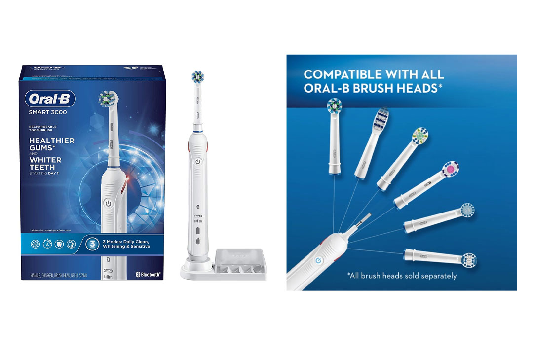 Oral-B Pro 3000 Electronic Power Rechargeable Battery Electric Toothbrush