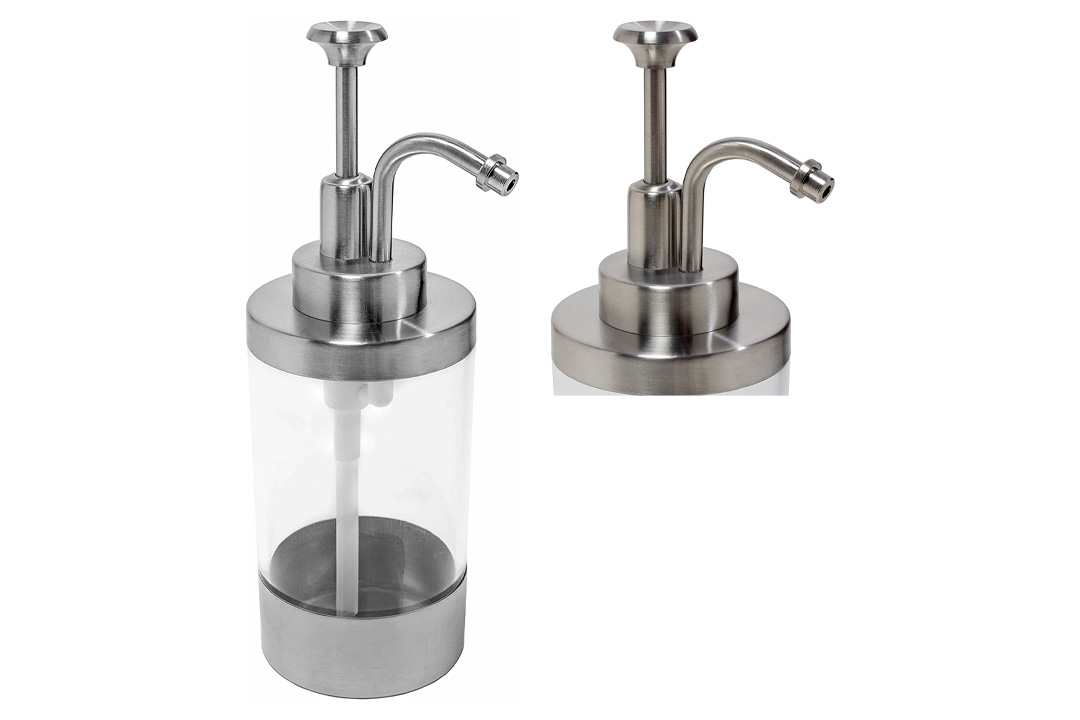 Soap Dispenser Stainless Steel Brushed Metal or Lotion Dispenser