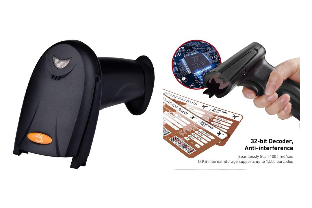TaoTronics 2.4G Wireless Cordless Handheld Barcode Scanner Reader Kit