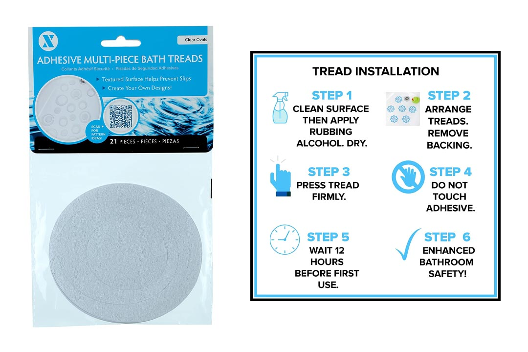 Adhesive Oval Bath Treads