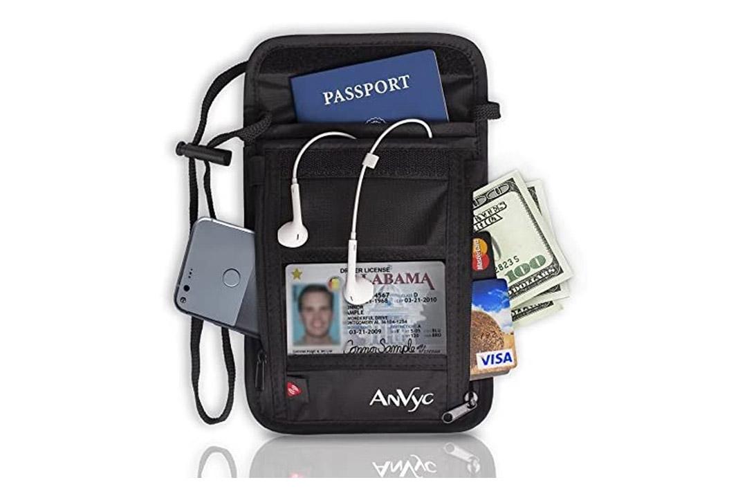 AnVyc Neck Wallet with RFID Blocking