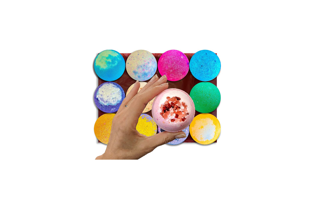 Bath-Bombs-12-Vegan-Gift-Set-w-Free-Lip-Balm