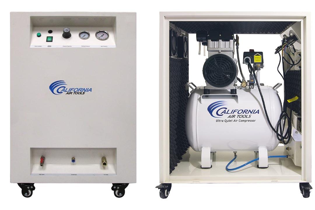 California Air Tools 10020SPC Ultra Quiet & Oil-Free 2.0 hp Steel Tank Air Compressor