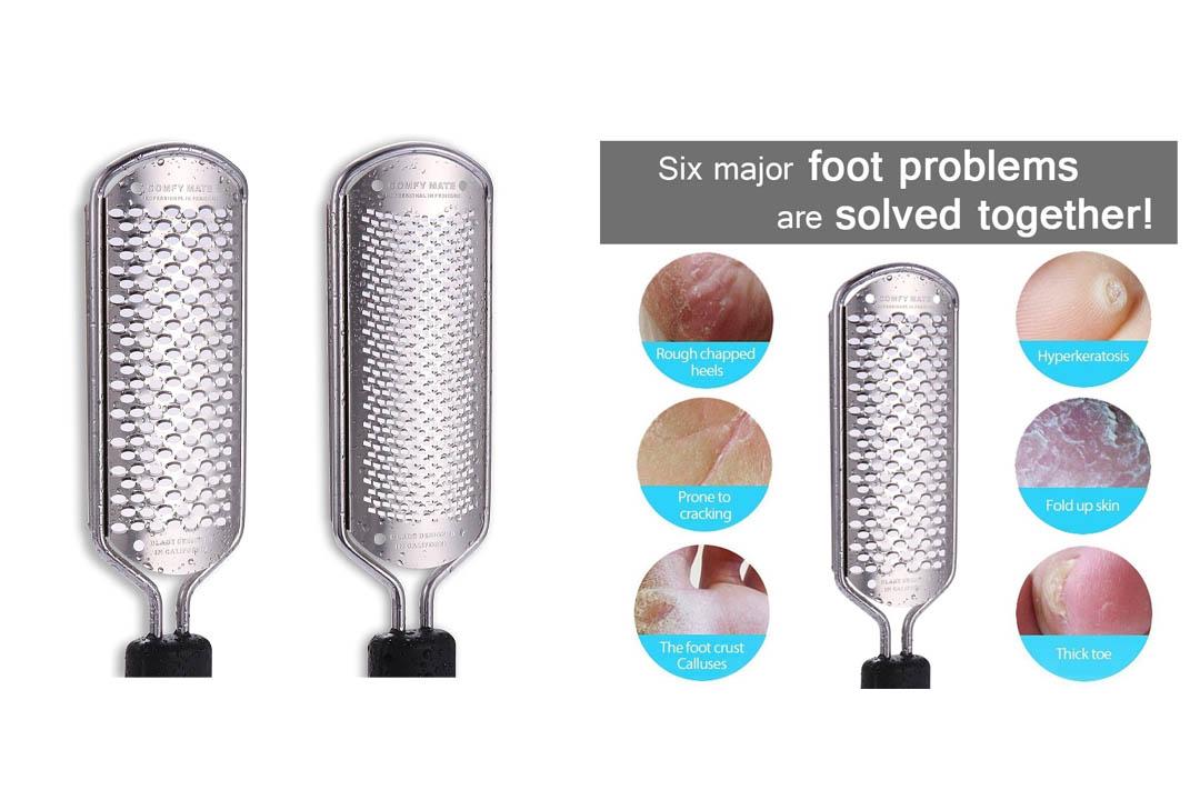 Comfy Mate -2 Blades Pedicure Foot File Rasp Feet Callus Shaver