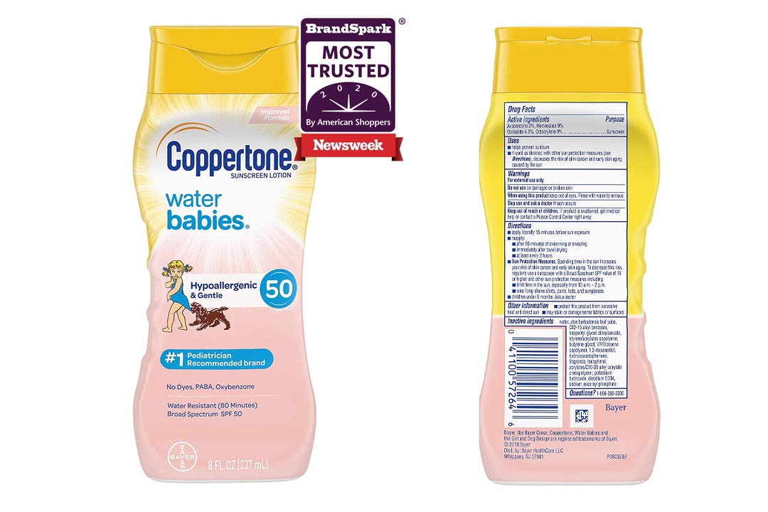 Coppertone WaterBabies Sunscreen Lotion Broad Spectrum