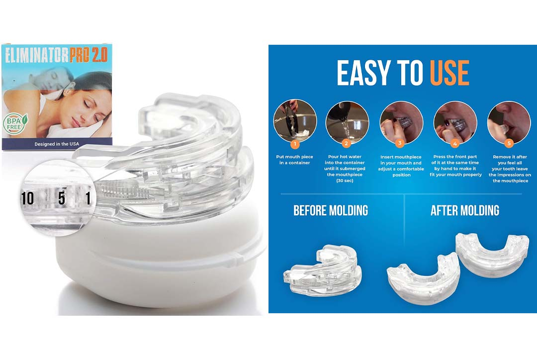 Eliminator Sleep Aid Custom Bruxism Night Mouth Guard Mouthpiece