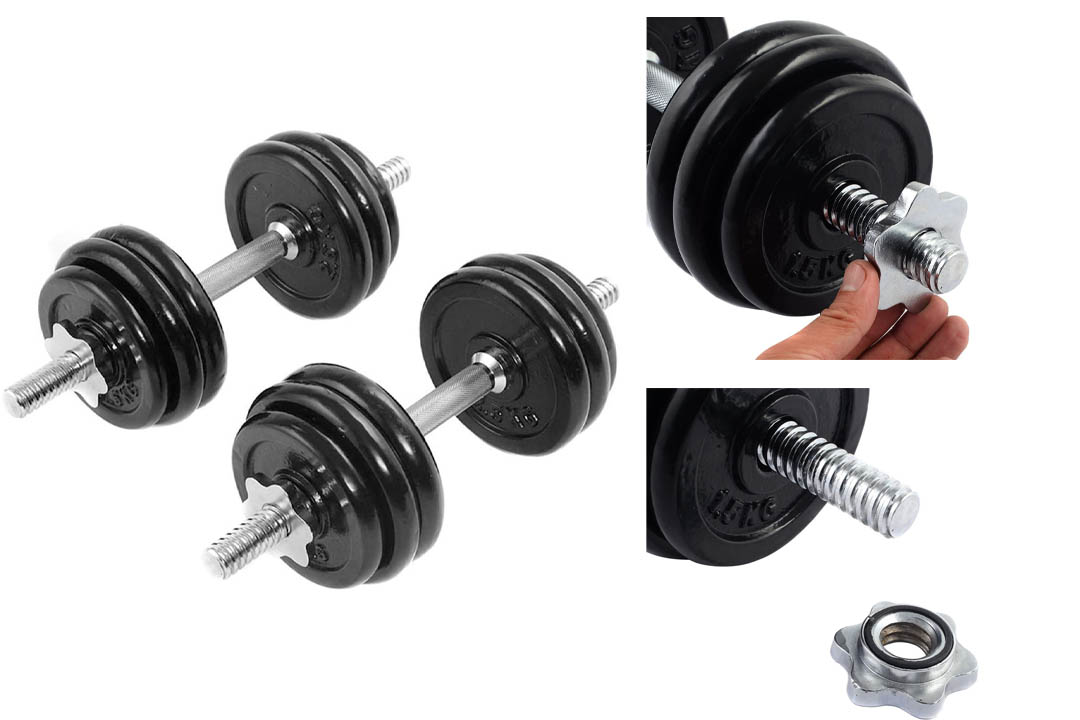 Giantex 66 LB Weight Dumbbell Set Adjustable Cap Gym Barbell
