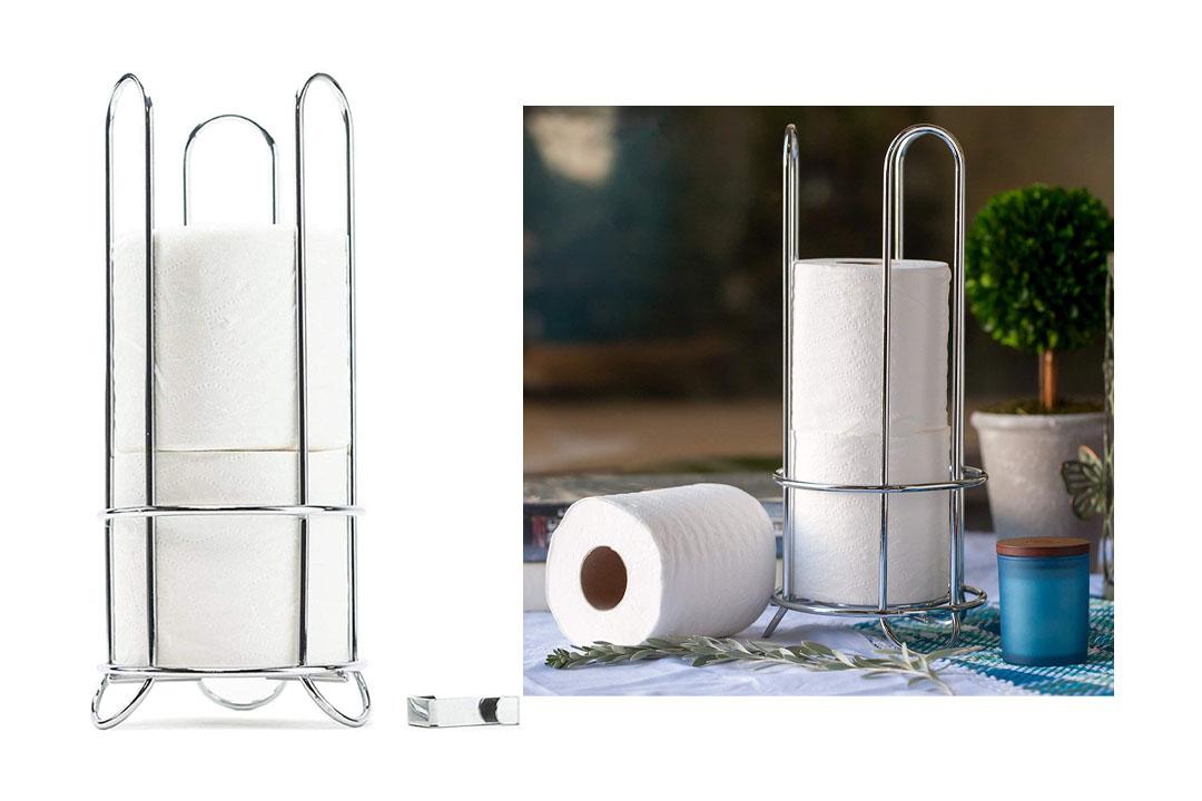 HUJI Chrome Toilet Paper Roll Holder