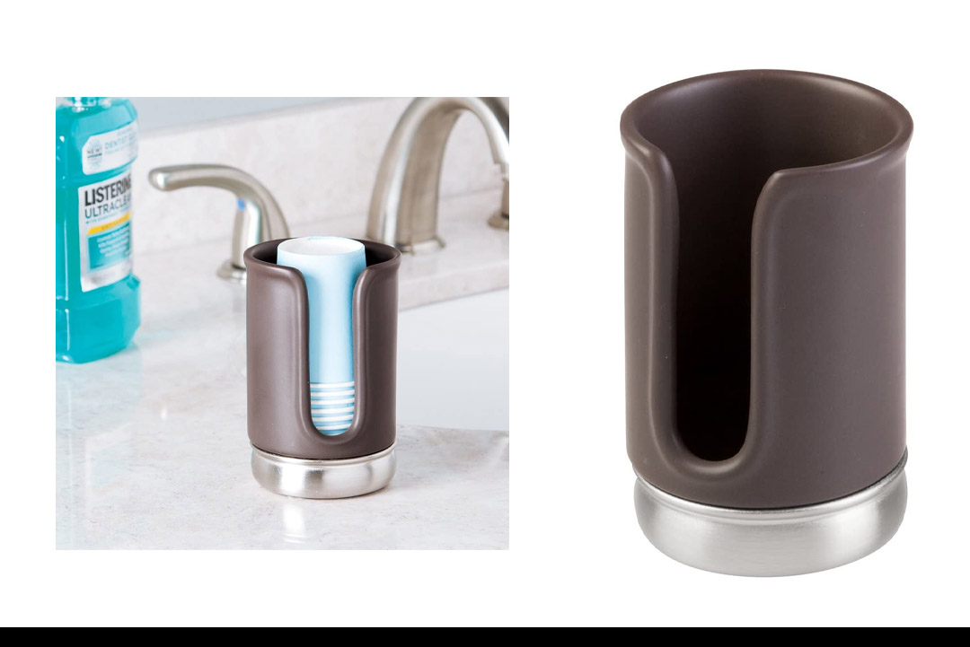InterDesign York Disposable Bath Cup Dispenser