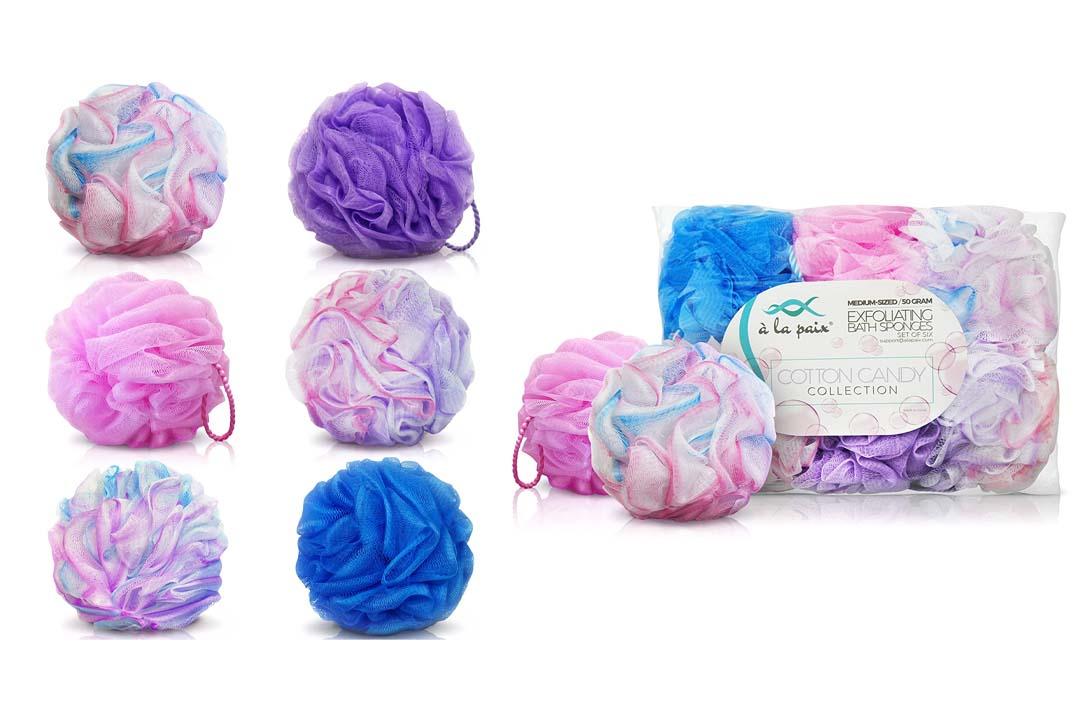 Loofah Bath Sponge set of 6 colors