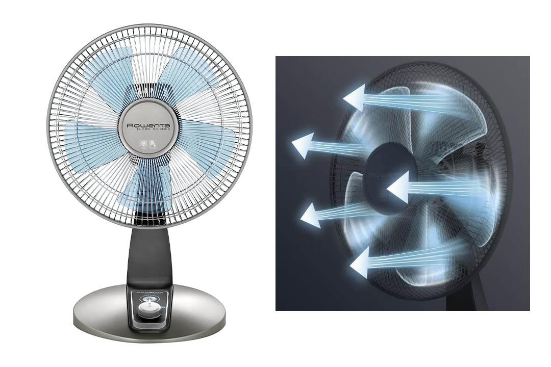 Rowenta VU2531 Turbo Silence Oscillating 12-Inch Table Fan