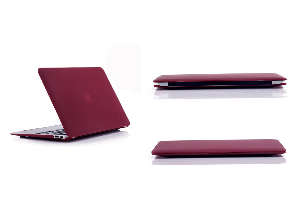 Ruban - AIR 13-inch Wine Red Rubberized Hard Back Case for MacBook Air 13.3""