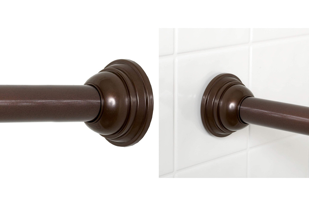 Zenna Home 775RB, Tension Shower Curtain Rod