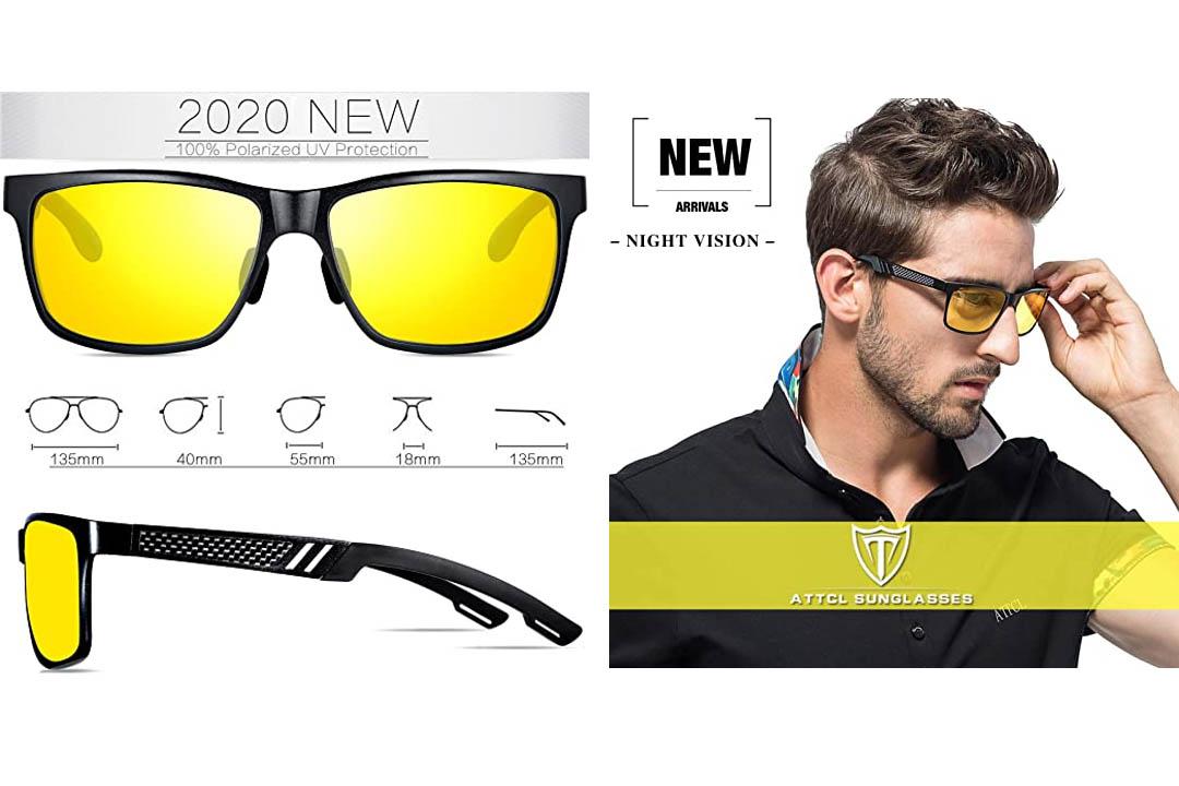 ATTCL Men's Hot Retro Driving Polarized Sunglasses