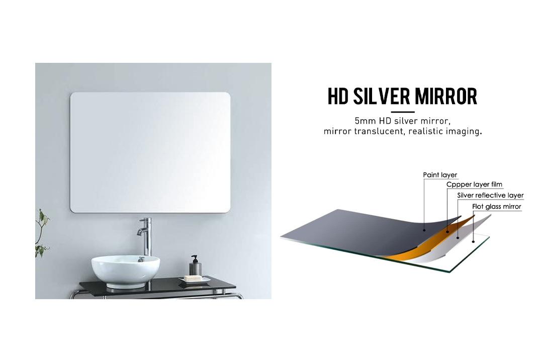 Alice Horizontal Vanity Bathroom Silvered Mirror