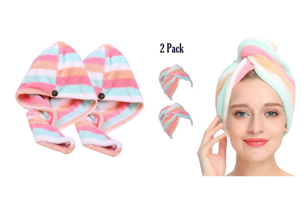 AuroTrends Microfiber Hair Turban Wrap