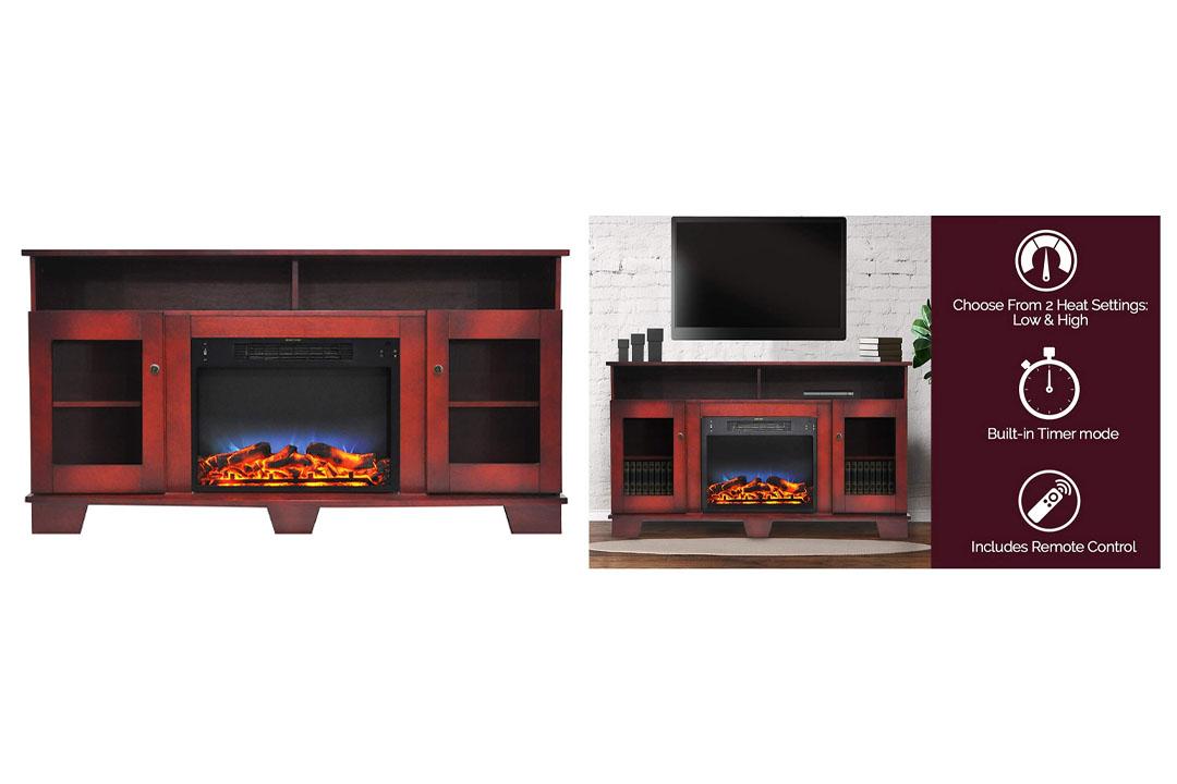 Cambridge CAM6022-1CHRLED Savona Fireplace and Media TV Stand