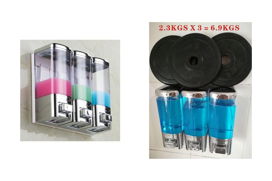 GBW Luxury Chrome 3 Chambers Shampoo/Shower Dispenser