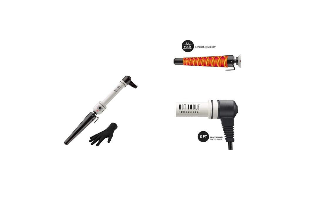 Hot Tools HTBW1852 Curly-Q Tapered Nanoceramic Curling Iron