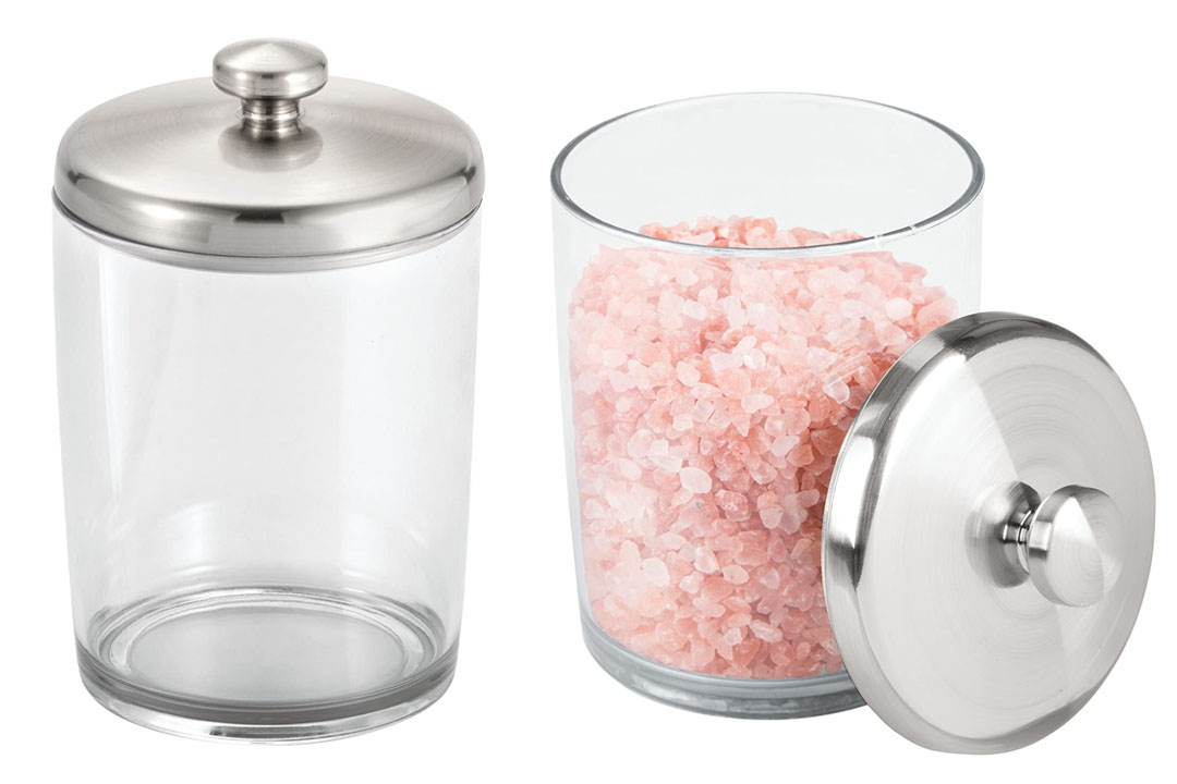 InterDesign Gina Bathroom Vanity Canister Jar