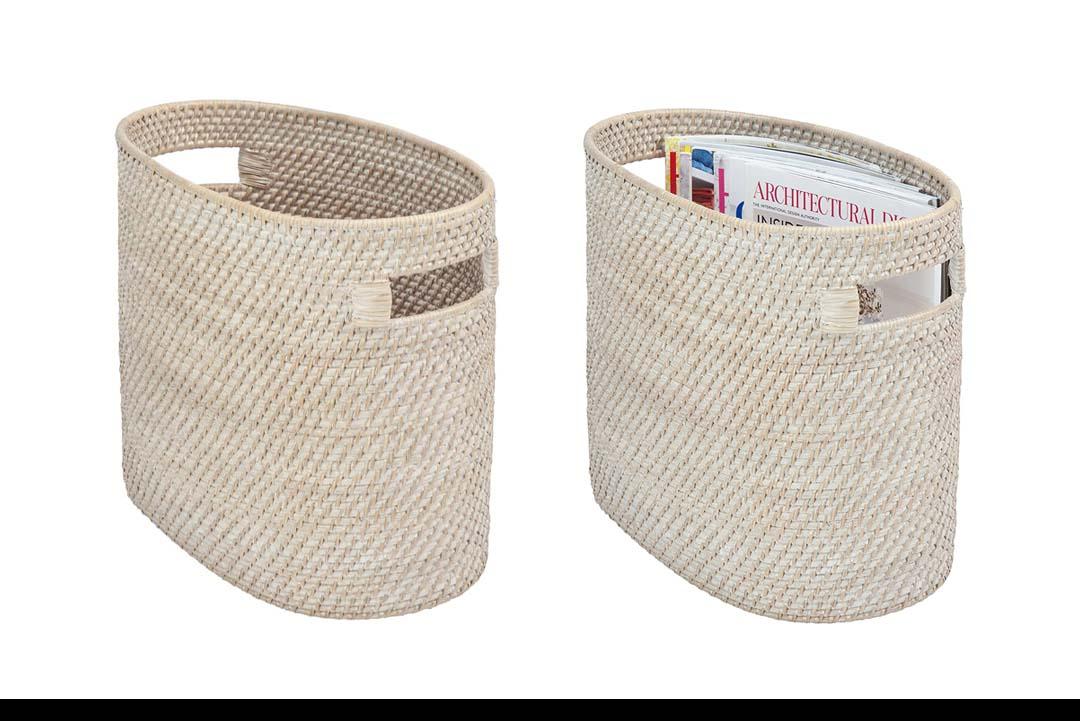 KOUBOO Magazine Newspaper and Rack Basket