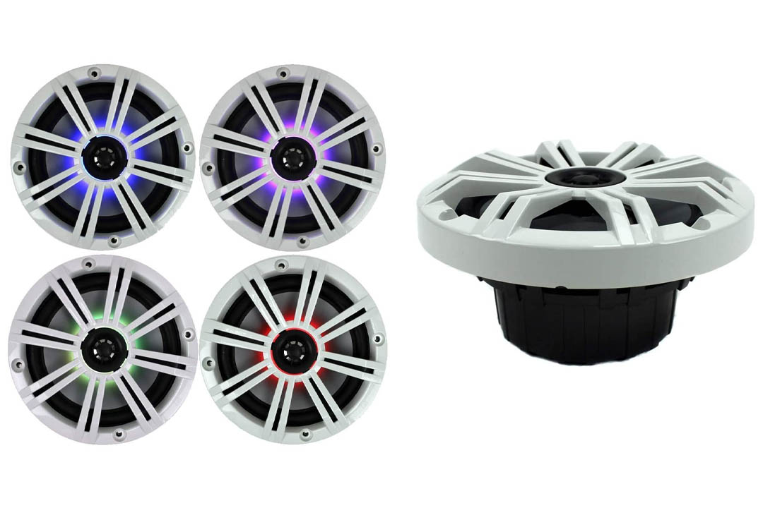 Kicker KM654LCW (41KM654LCW) 6.5 Inch 2-way Marine Speaker Pair