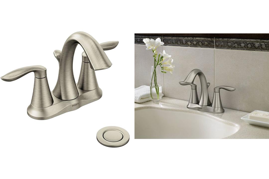 Moen Eva Two-Handle Centerset Bathroom Faucet