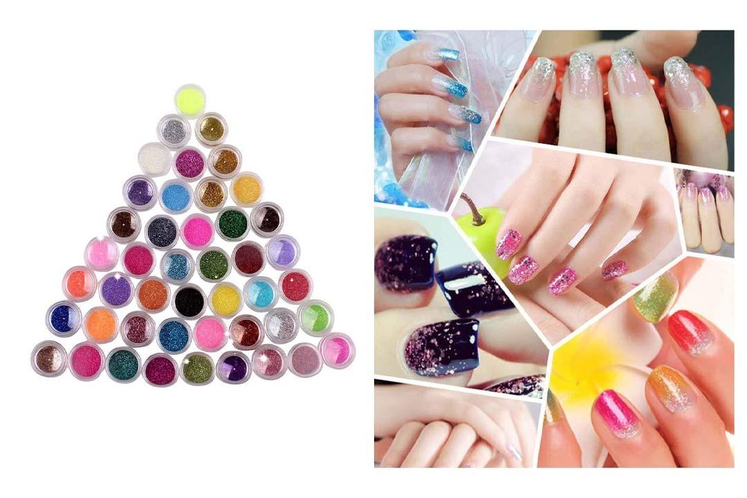 NYKKOLA 45 Colors Eyeshadow Nail Art Make Up