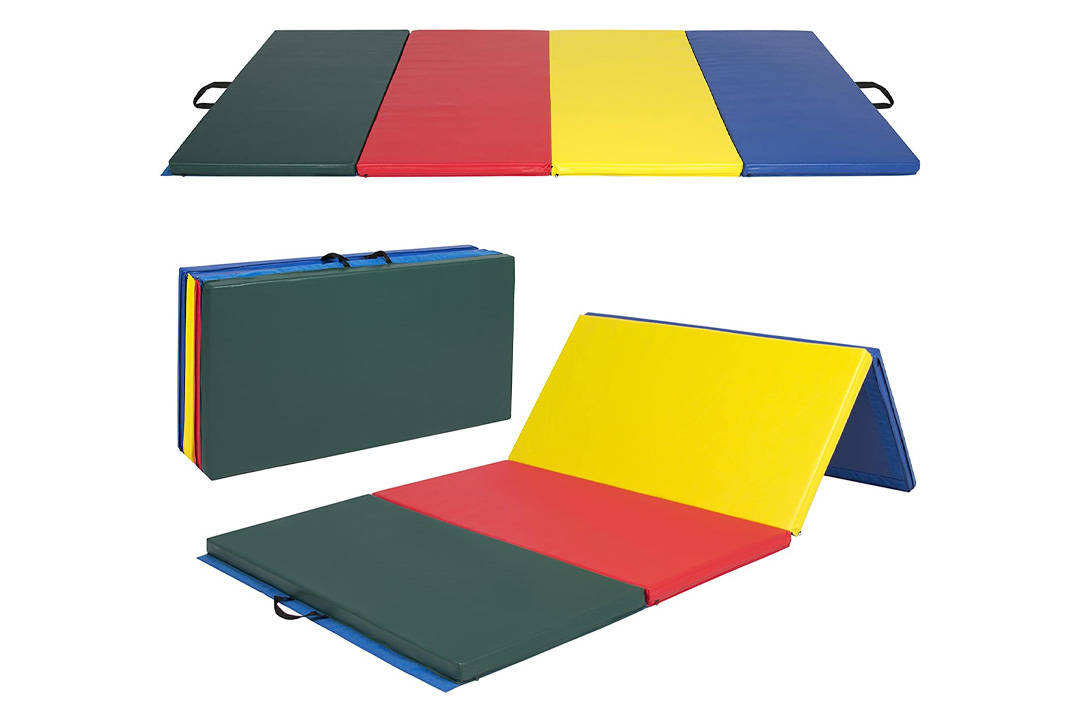 PU Leather Gymnastics Tumbling / Martial Arts Folding Mat