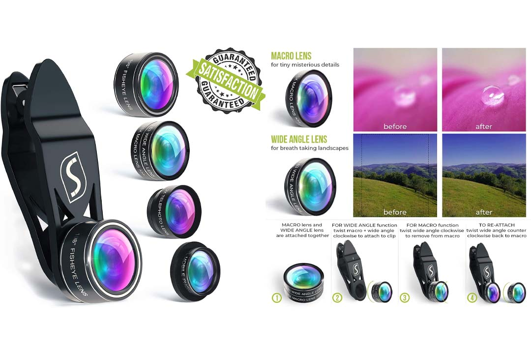 Phone Camera Lens Kit - 5 in 1 Universal Set For iPhone
