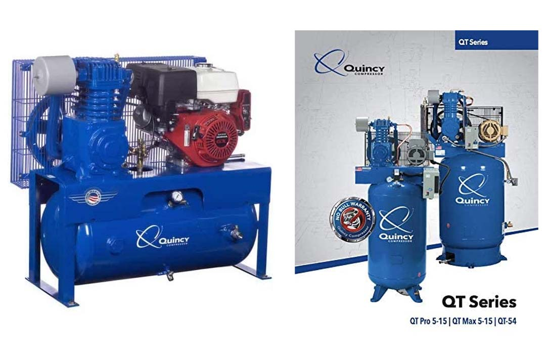 Quincy QT-7.5 Splash Lubricated Reciprocating Air Compressor