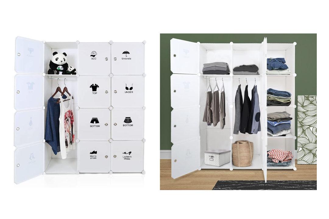 ROKOO Clothes Closet Wardrobe Portable DIY Modular Cube Shelving