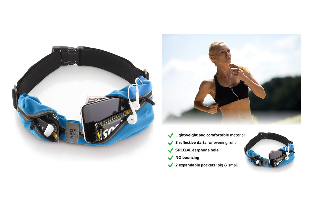 Sport2People Running Belt USA Patented. Fanny Pack