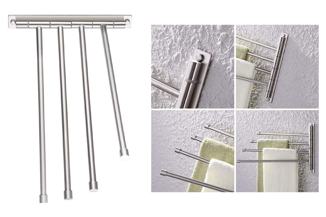 Stainless Steel Swing out Towel Bar